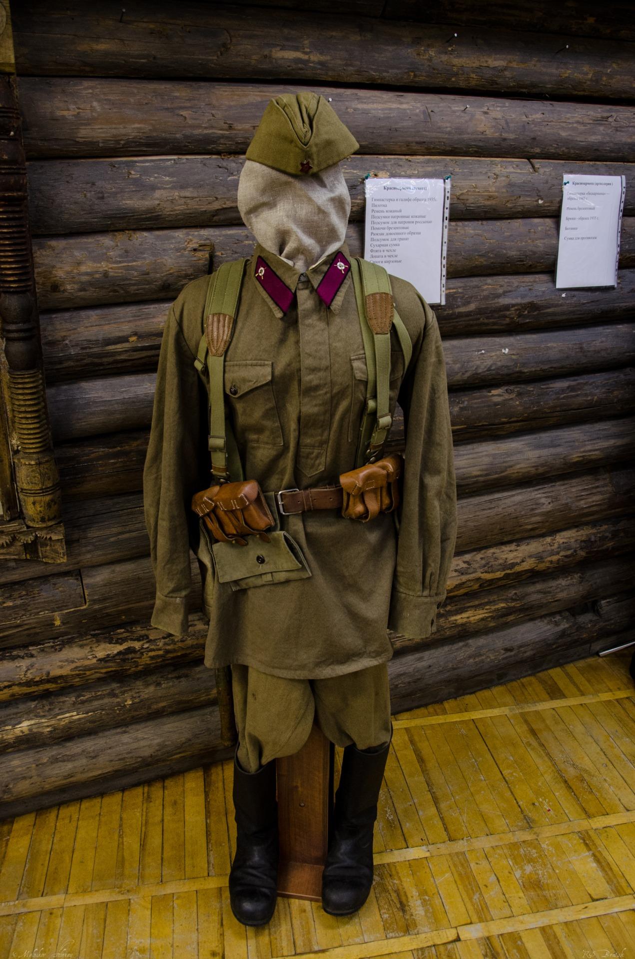 Примеры обмундирования советских войск. Артиллерист и Пехотинец